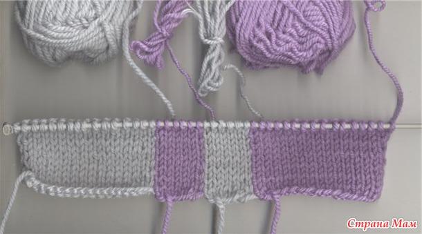 двухцветный жгут вязание спицами страна мам