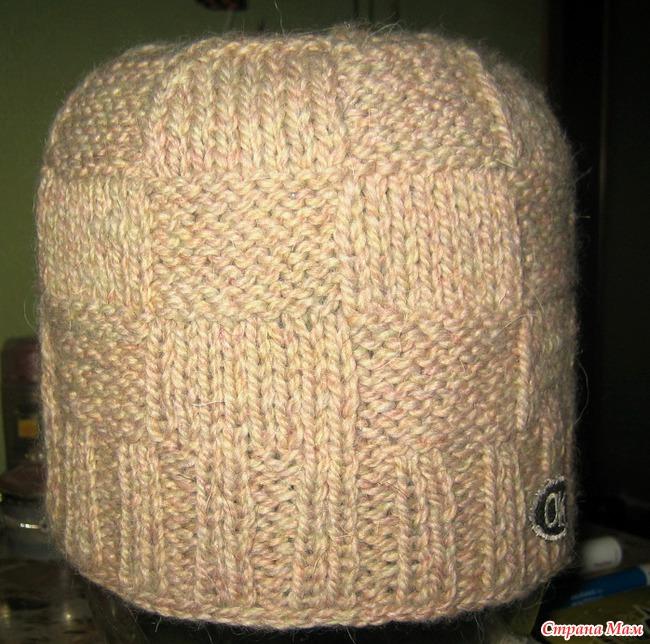 "Мужская шапка ""Man Thing"" и повязка на голову спицами"