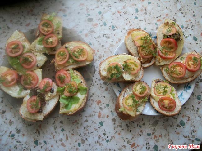 Бутерброды по-деревенски или...