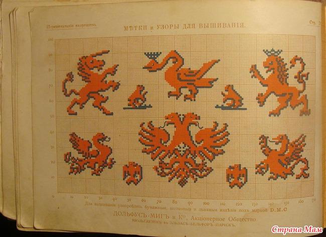 Метки и узоры для вышивания. 1913год