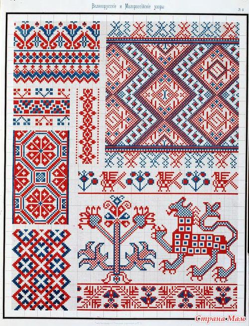 Сборник великорусских и малороссийских узоров для вышивания. 1877год