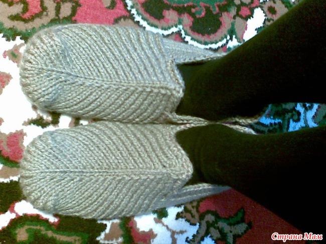 Домашние тапочки для мужчины - Вязание - Страна Мам