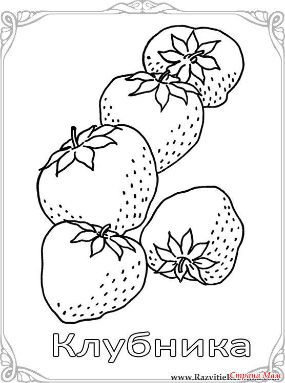 карточки раскраски для детей фрукты и овощи страна мам