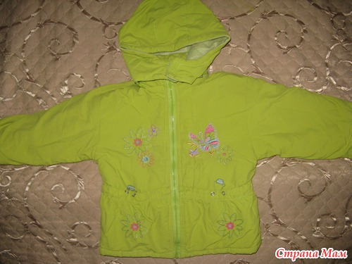 Продам демисезонный костюм (полукомбез и куртка) для девочки Россия