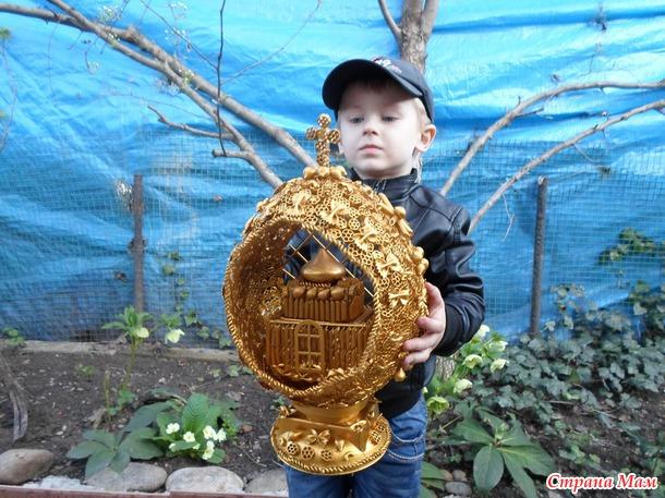 Пасхальное яйцо (поделка в детский садик)