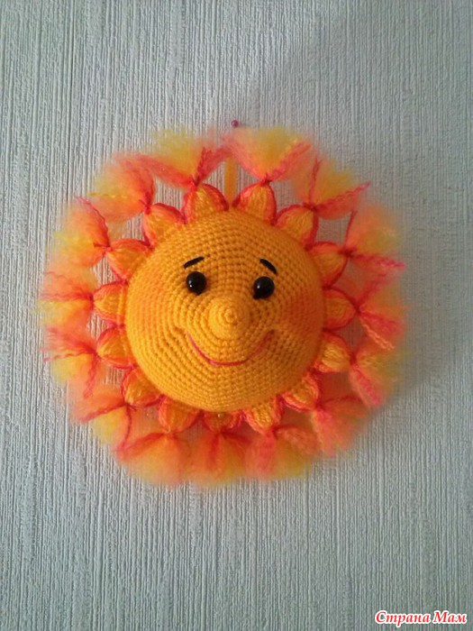 Связать крючком солнышко фото