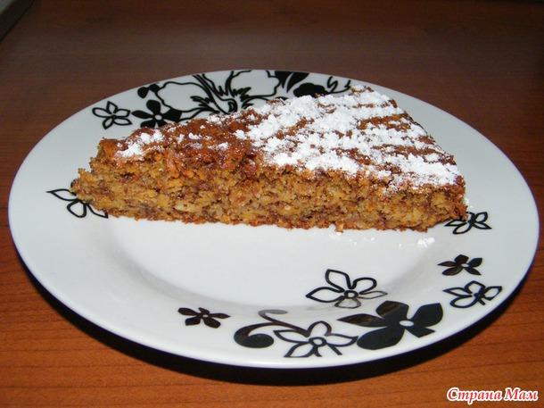 Морковный пирог с...