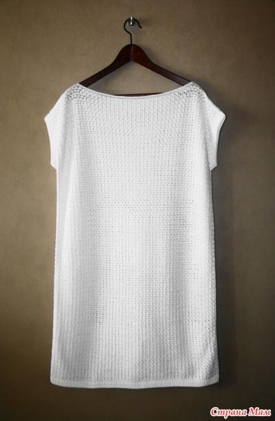 6b3572cda88 Простое белое платье - Вязание - Страна Мам
