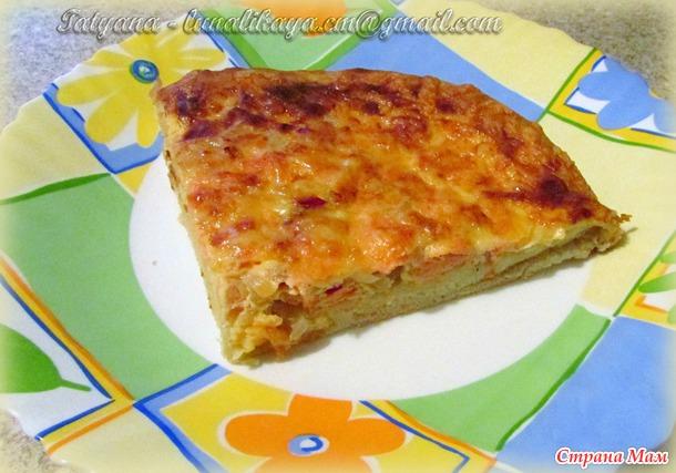 Фламиш - открытый пирог родом из Франции