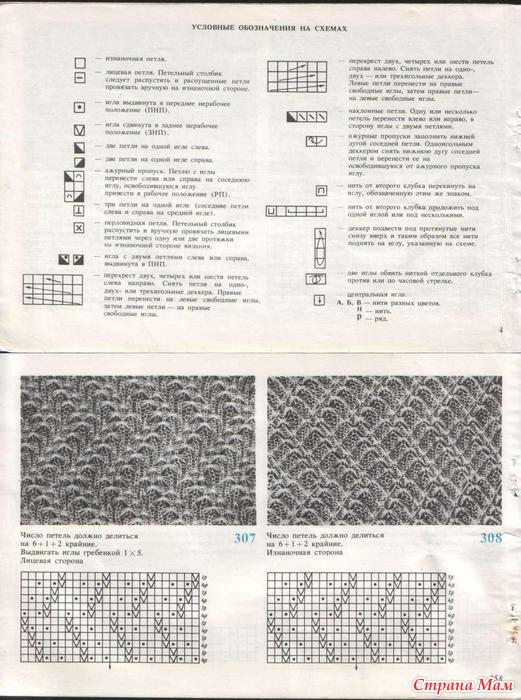 т и галеску узоры для вязания на машине машинное вязание