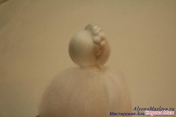 Снежный ангел из шерсти