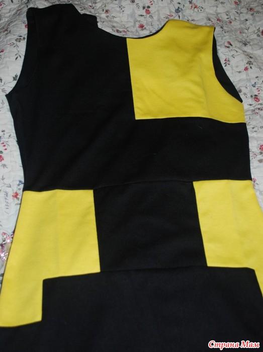 29d4a9b380b Интересное желто-черное платье+ - Страна Мам