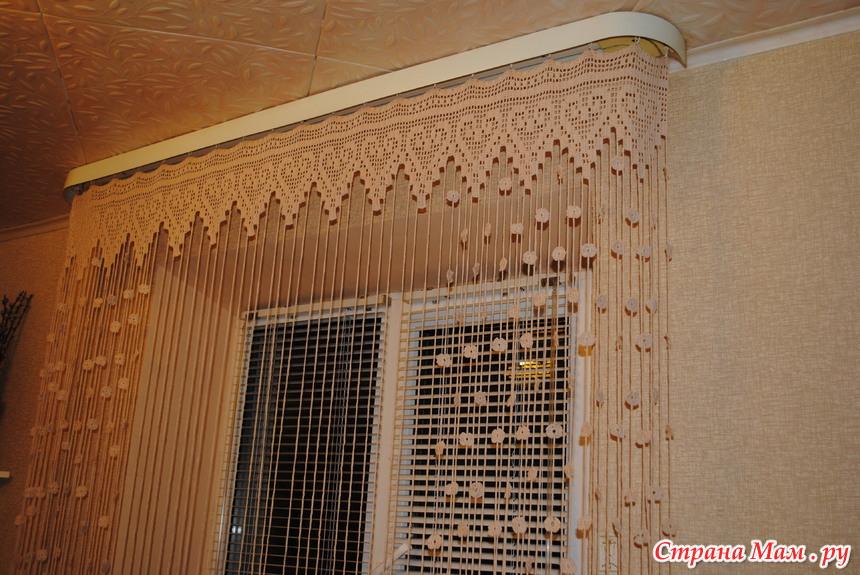 шторы на кухню крючком схемы и описание