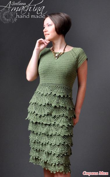 Вязание крючком платья для женщин со схемами фото 553