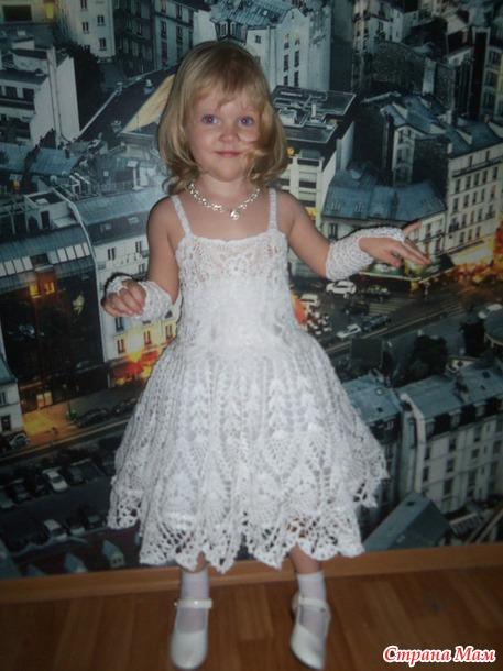 новогоднее платьеснежинка для моей доченьки все в ажуре