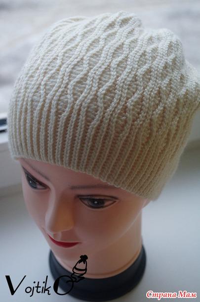 зимняя шапка крючком De Luxe вгу вязаные головные уборы