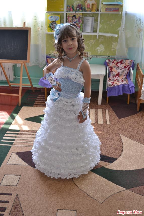 7f81eafb323 Платье на выпускной в садик - Все в ажуре... (вязание крючком ...