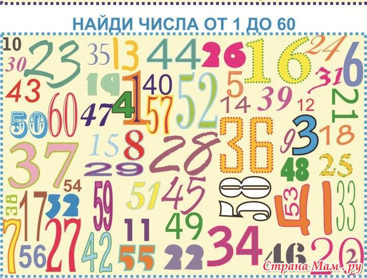 Искать цифры на картинках для девочек