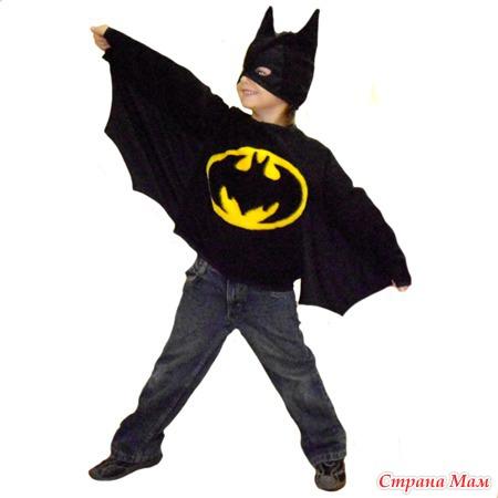 Костюм Бэтмена для детей: новогодний наряд 31