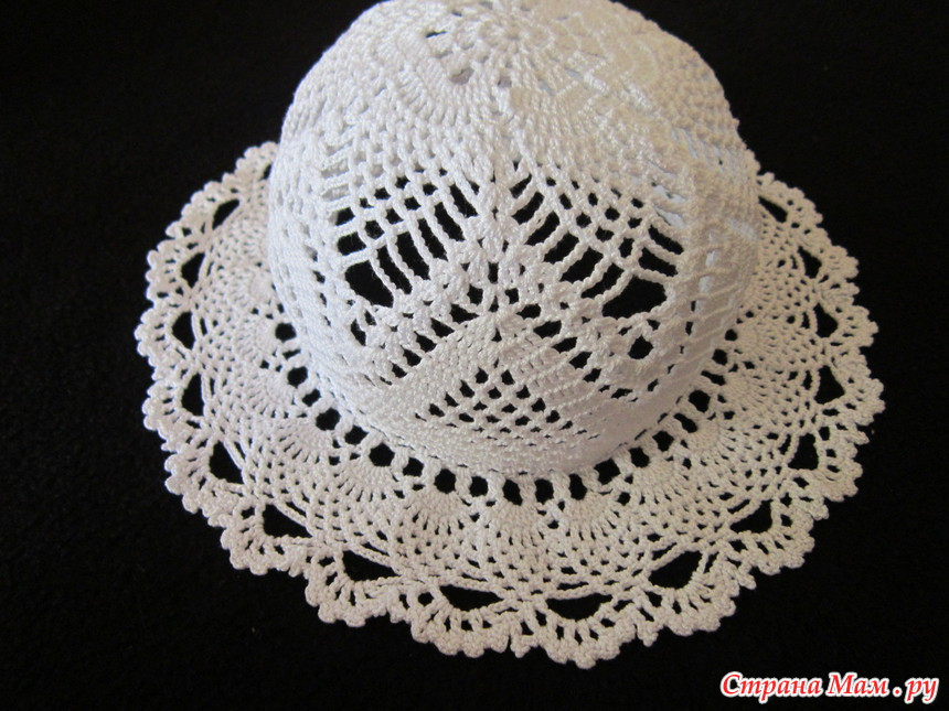 Шляпа для девочки крючком схема