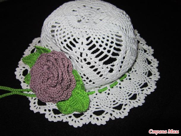Сарафан и шляпка для девочки крючком