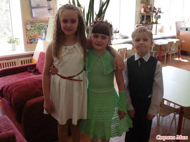Идеи вязанных платьев для выпускного вском саду