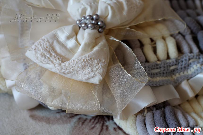 Вяжем для новорожденного конверт 25