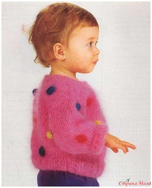Интересные кофточки, пуловеры  для девочек