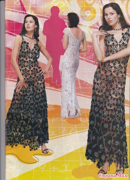 вечерние платья крючком много фото 1 все в ажуре вязание
