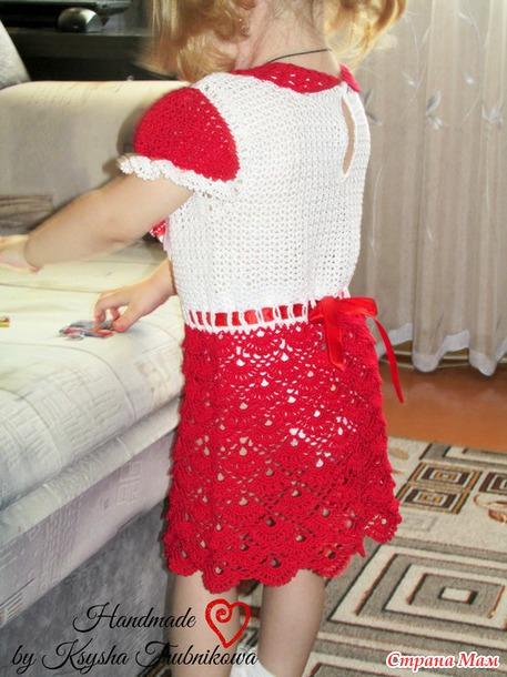 """Платье """"Очаровашка"""" для девочки (схемы + подробное описание расширения полотна юбки)"""