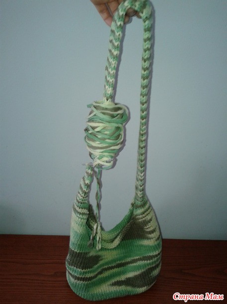Вязанная сумка с твёрдым дном (полный МК сумки, крючок+спицы)