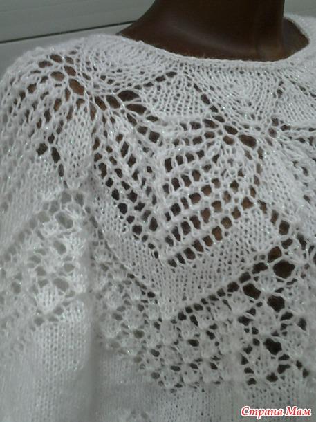 Ажурная блуза из мохера от Lene Holme Samsoe, в моём исполнении.