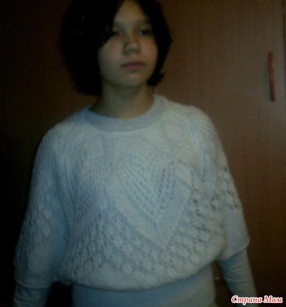 Ажурная блуза в моем исполнении. Почему я ненавижу вязать по описанию. Пост-клон предыдущего.