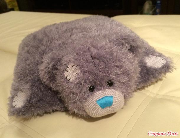 Тэдди-подушка.