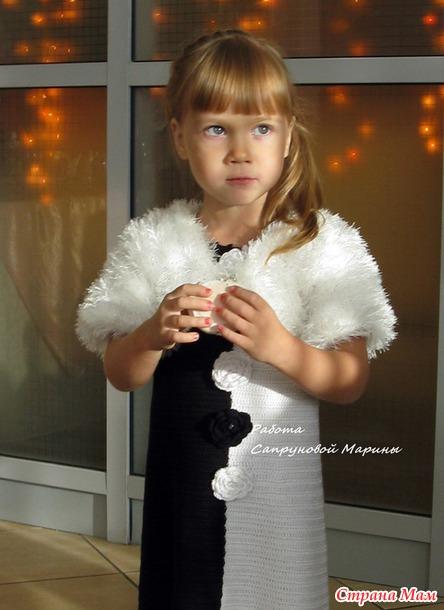 """Платье """"Домино"""" для моей юной леди и моя победа в конкурсе"""