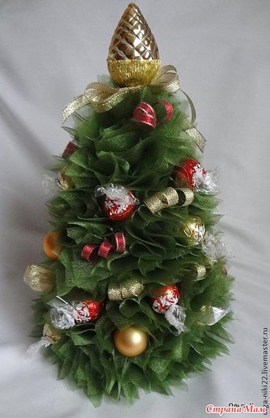 помощью елка из фатина с конфетами картинки дочь