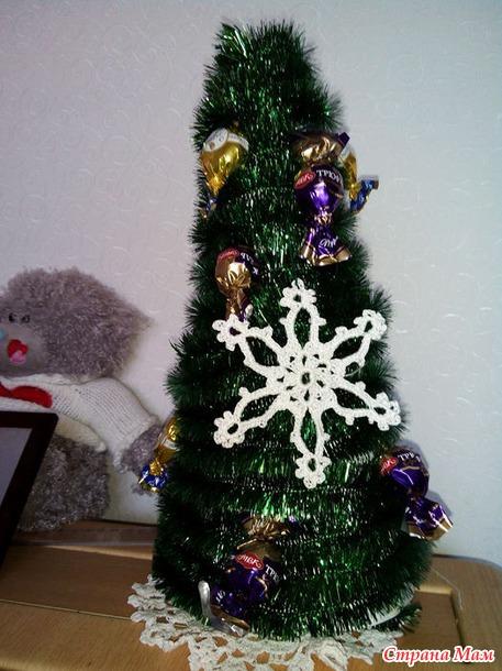 Вяжем ажурные снежинки, украшаем свой интерьер к Новому году!