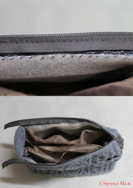 51f949a3616d ... выходили за границы сумки). Шьем подклад: из двух прямоугольников  размером примерно 43*28. По желанию можно пришить кармашки для мелочей или  телефона.