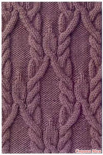 Араны спицами. Схемы вязания с использованием аранов 26