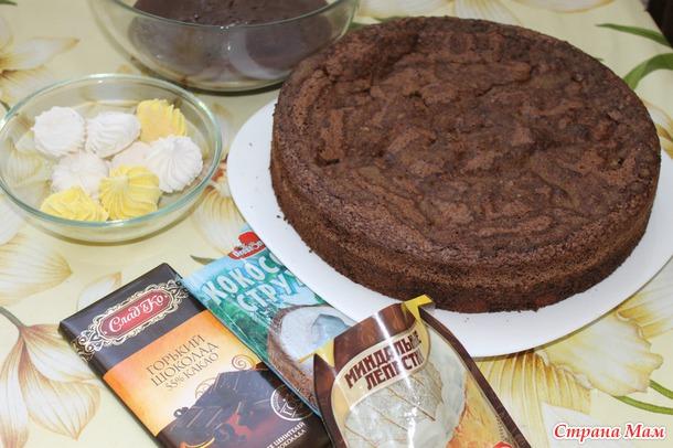 МК Шоколадного бисквита с творожными шариками
