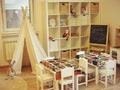 Детский сад: Игровая комната в эко-дизайне - обеденная зона