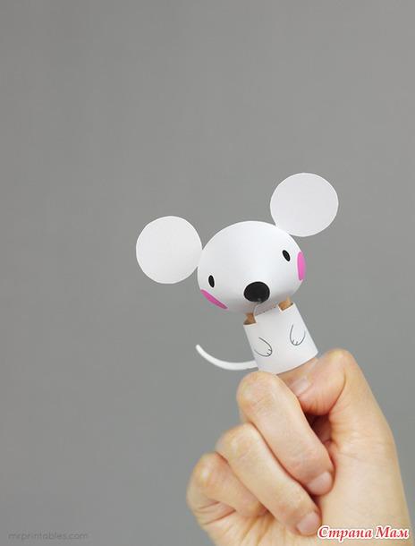 Пальчиковые бумажные игрушки