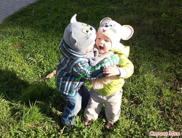 Шапочки моим мальчикам Том и Джерри