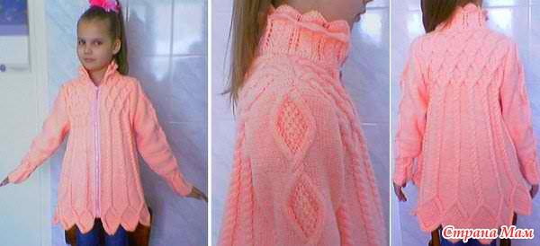 Вязание детских кардиганов для девочек 156