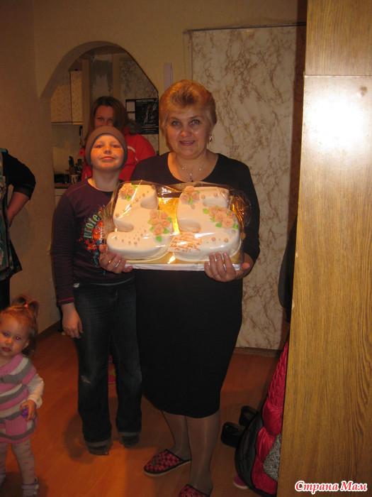 торт на юбилей 55 лет маме фото