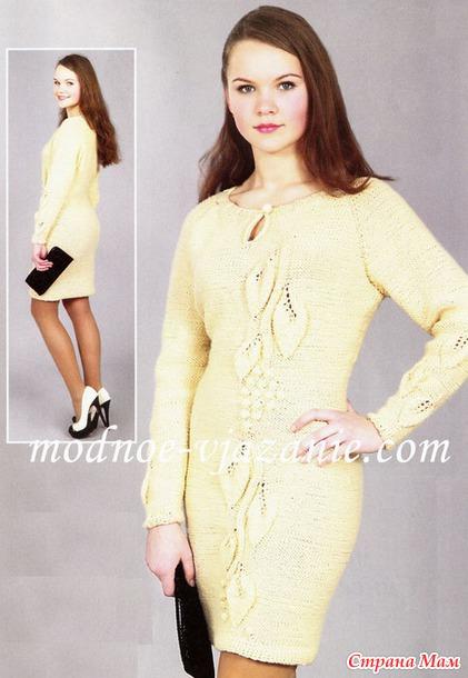 платье реглан вязание спицами страна мам