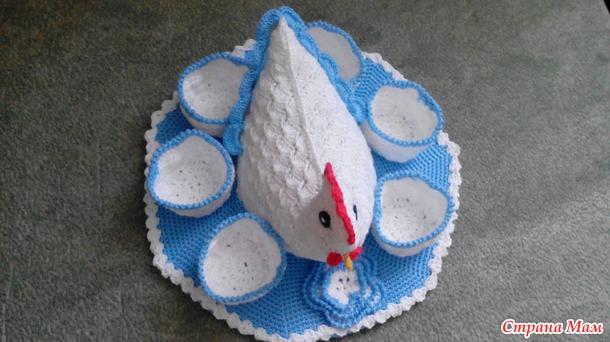 Моя курочка-подставка для пасхальных яиц