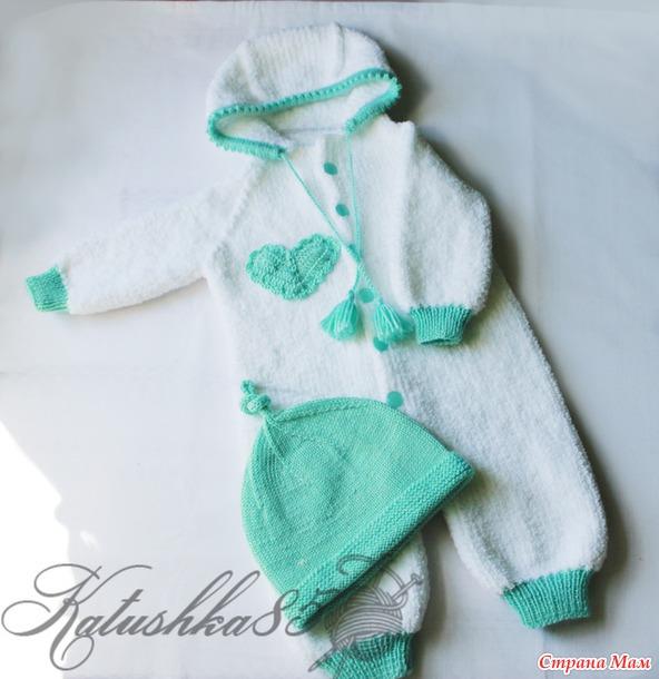 Плюшевые комбинезоны для новорожденных - Вязание - Страна Мам
