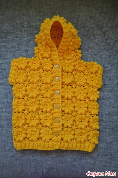детский жилет с капюшоном вязание страна мам