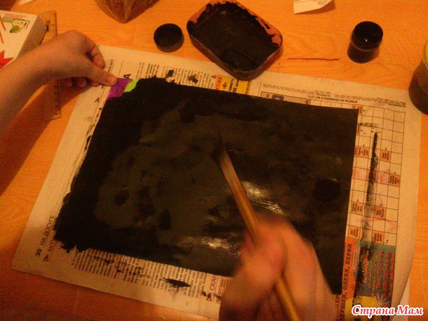 Сделать дома своими руками... гравюру. Творчество с детьми. МК